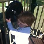 Steering wheel at Ben Brenman Park in Alexandria VA