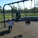 Swings at Ben Brenman Park in Alexandria VA