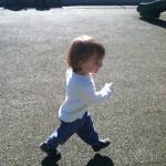 Running at Ben Brenman Park in Alexandria VA
