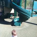 Twisty slide at Ben Brenman Park in Alexandria, VA