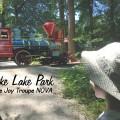 Burke Lake Park watching the train go by The Joy Troupe NOVA