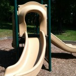 Curved Slide at Ft Ward Park