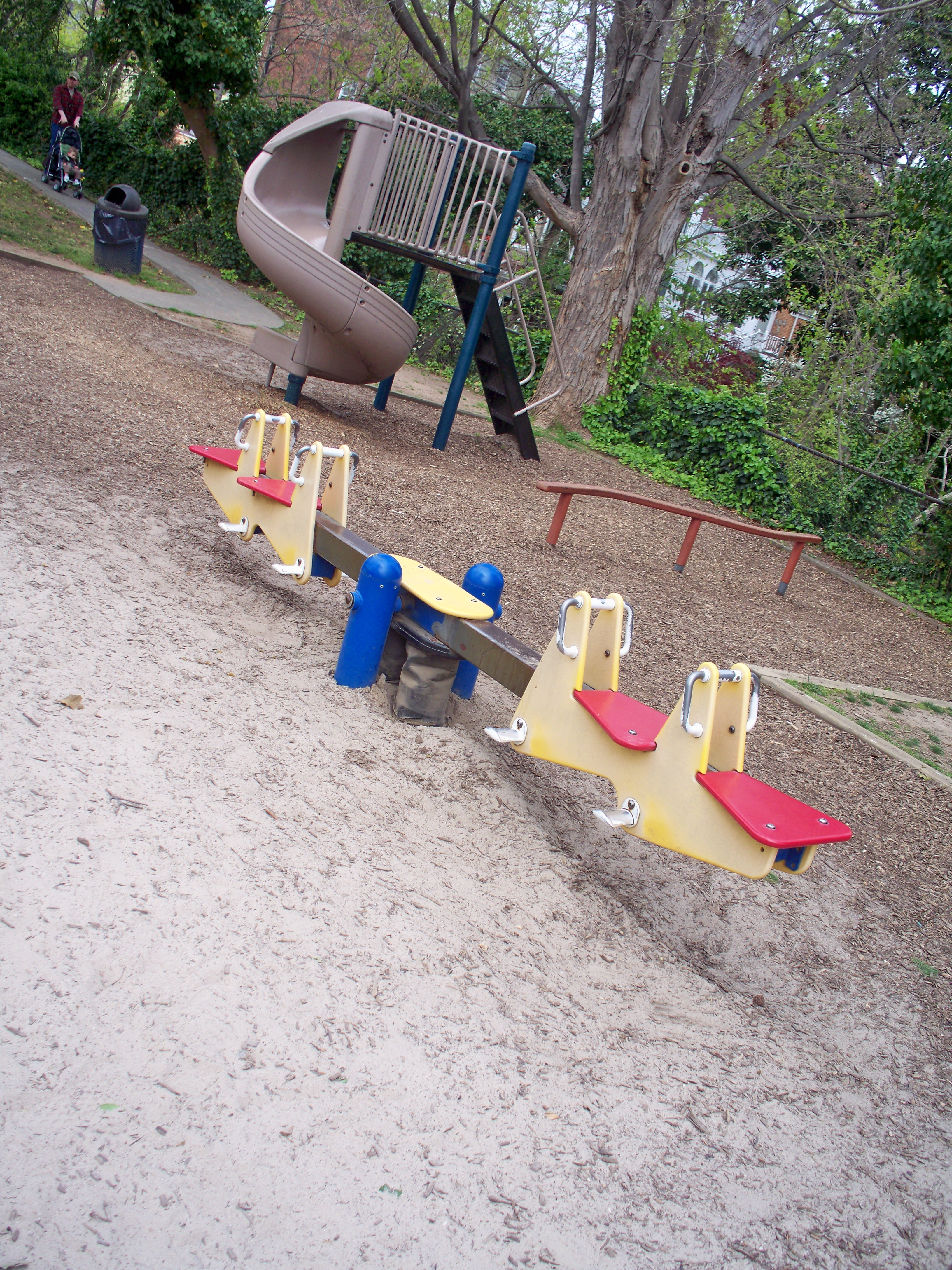 Teeter Totter and Balance Beam at Windmill Hill Park