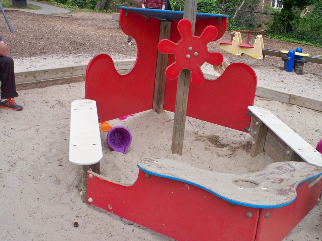 Ship Themed Sandbox at Windmill Hill Park