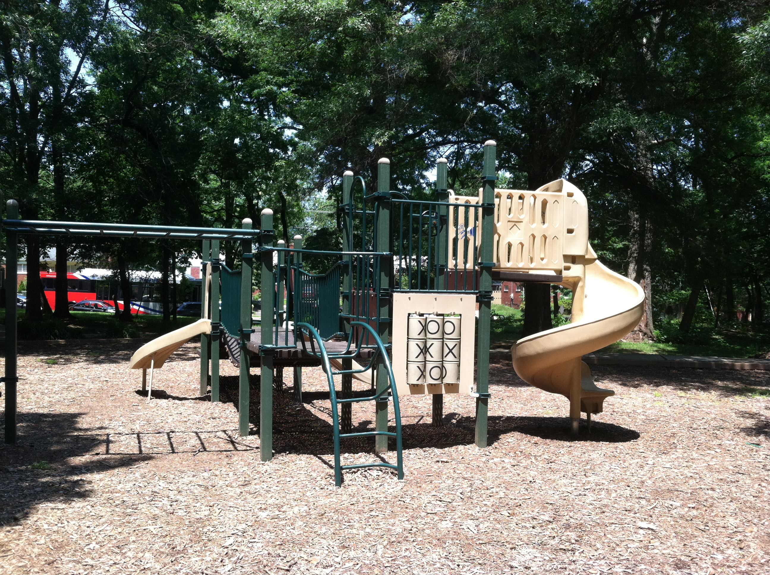 slides and climbing at Upton Hill Regional Park Playground