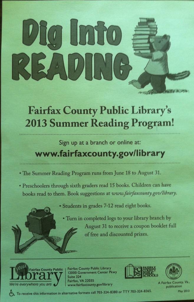 Fairfax County Summer Reading Program