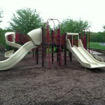 Climbing and slides at Reston North Park