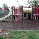 Climbing, tunnels, and slides at Reston North Park