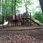 Play structure at South Lakes Drive Park in Reston, VA