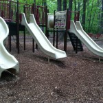 Slides at South Lakes Drive Park in Reston, VA