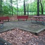 Seating at South Lakes Drive Park in Reston, VA