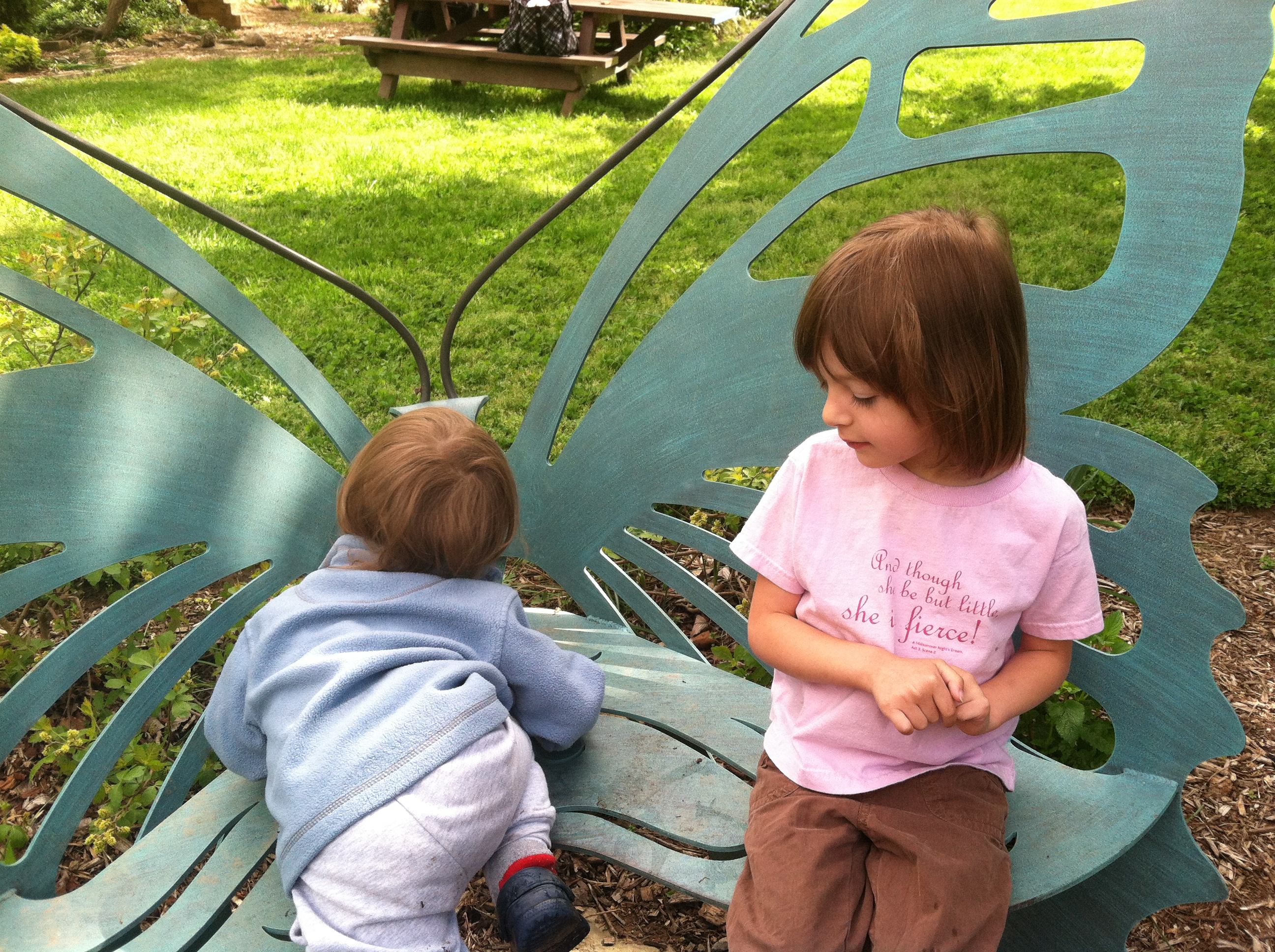 Butterfly Bench at River Farm Park in Alexandria VA