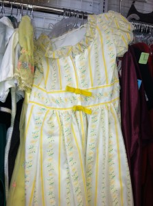 Vintage Yellow girl's dress at Goodwill Richmond Highway