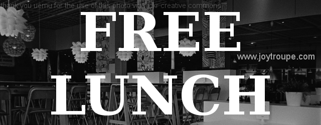 free lunch banner