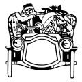 santa auto vintage image graphicsfairy008