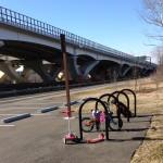 Bike racks at Jones Point Park