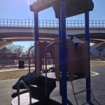 Climbing structure at Jones Point Park