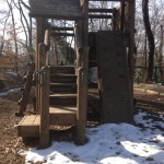 climbing at Potomac Overlook Regional Park playground Arlington VA