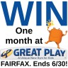 Great Play of Fairfax giveaway ends 6/30