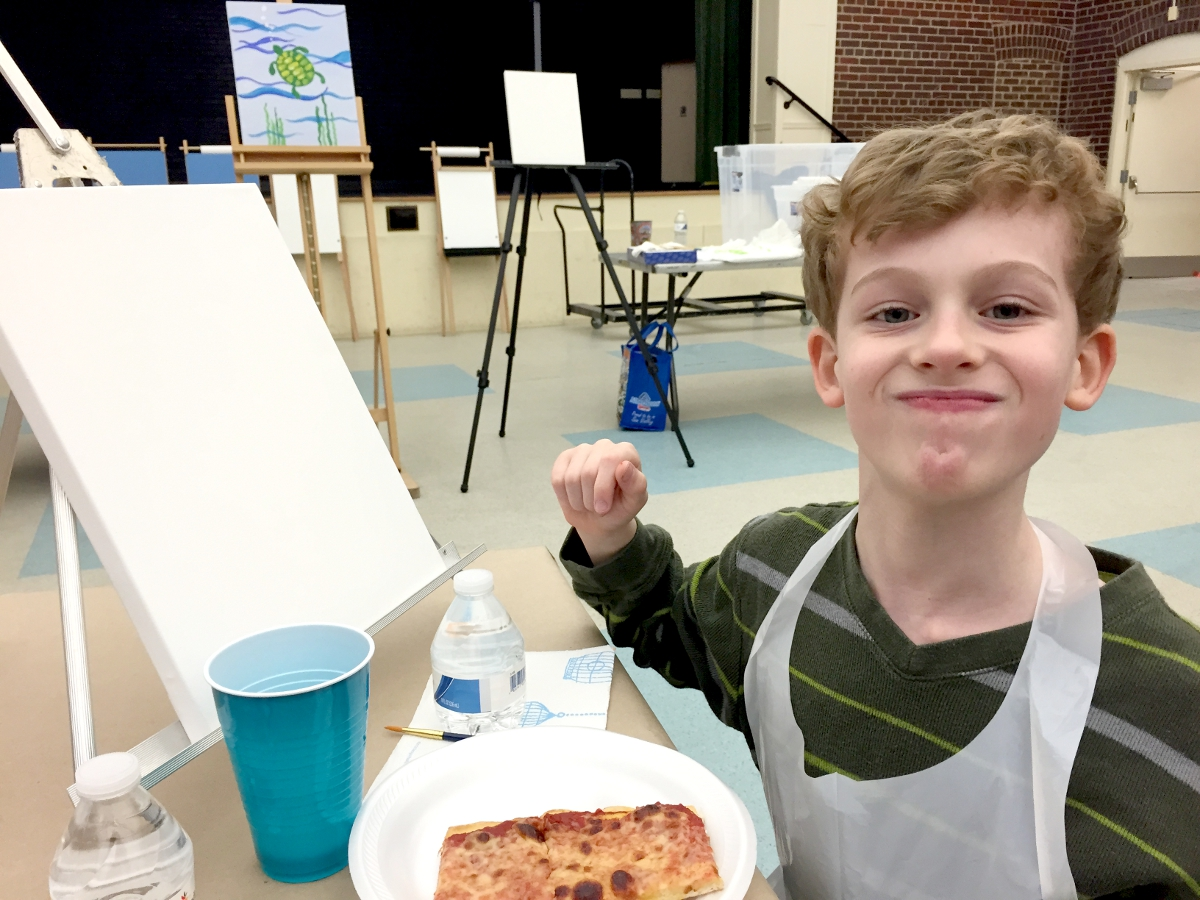 Family Paint Night with Pizza Alexandria VA Joy Troupe NOVA
