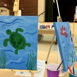Family Paint Night at the Durant Arts Center in Old Town Alexandria