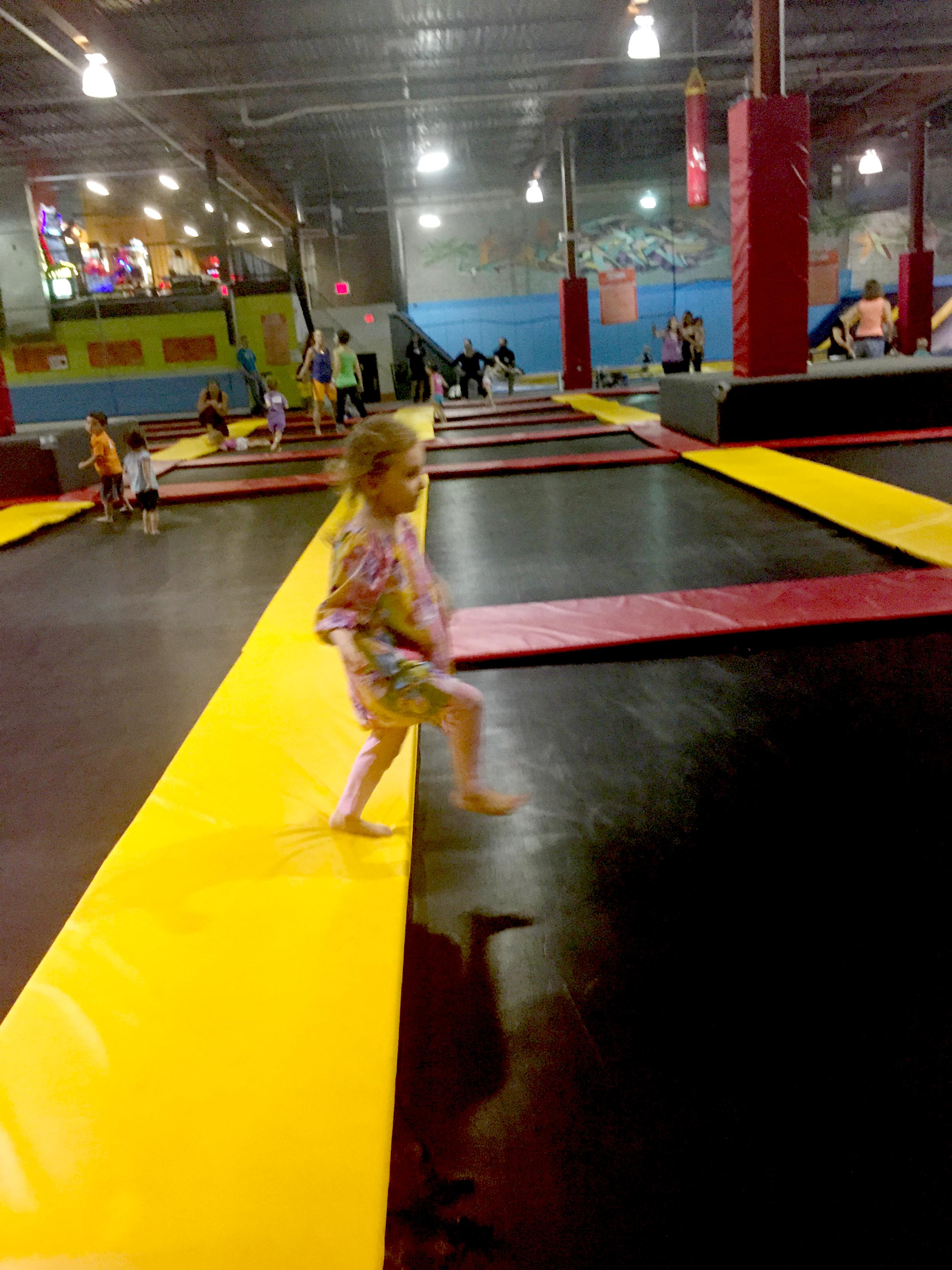 bounce floor at Flight Trampoline Park